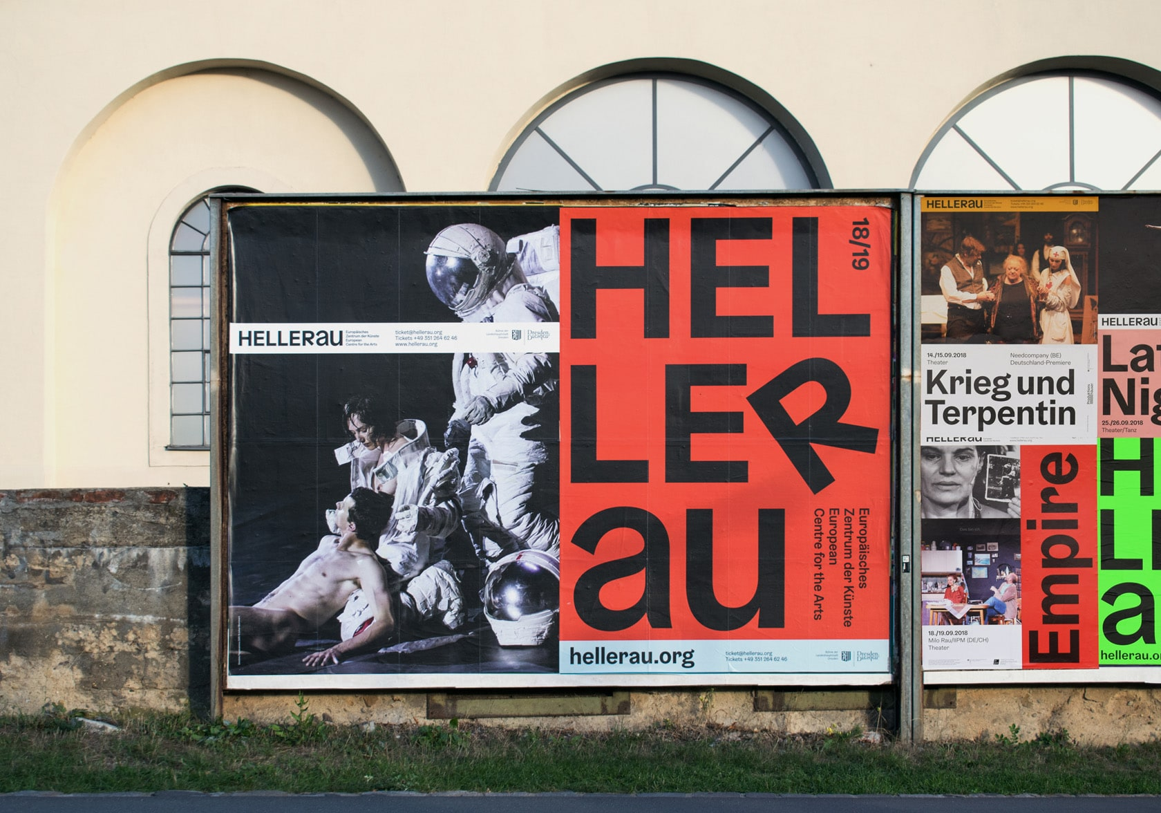 Photo of a outdoor poster for Hellerau – European Centre of the Arts