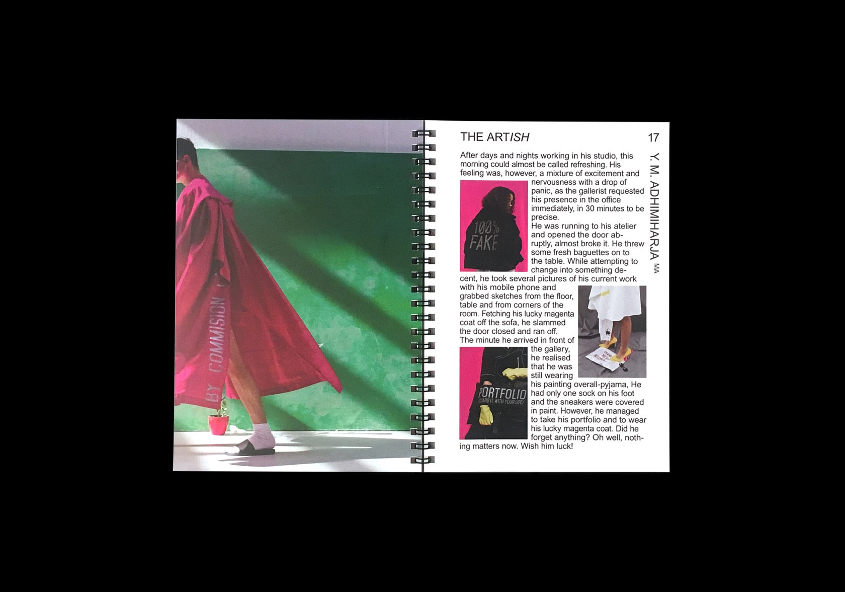 Photo of an opened Catalogue for the Kunsthochschule Weissensee Fashion dpt.